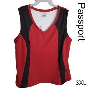 Passports Women Sleeveless Athletic Top